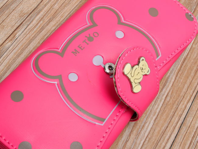 【韩版卡通可爱小熊长款钱包】-包包-箱包皮具/女包