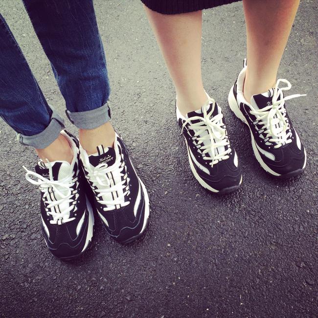 【权志龙同款黑白男士运动休闲鞋】-男装-跑步鞋
