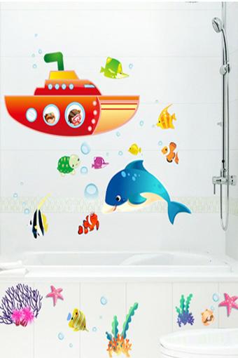 可爱海底世界墙贴纸