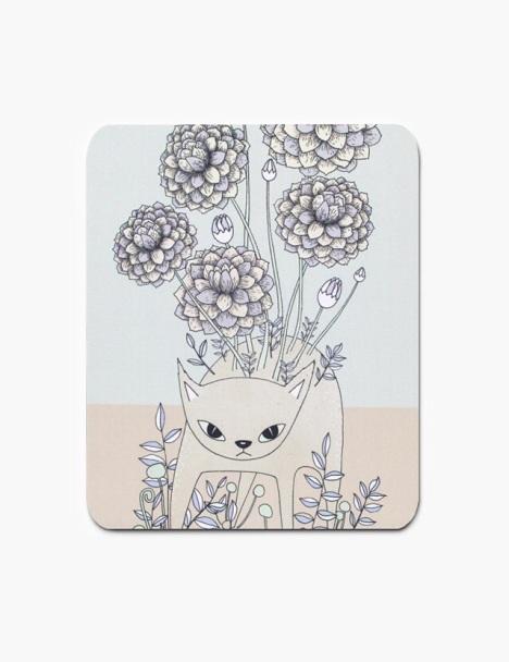 木与石原创手绘插画鼠标垫