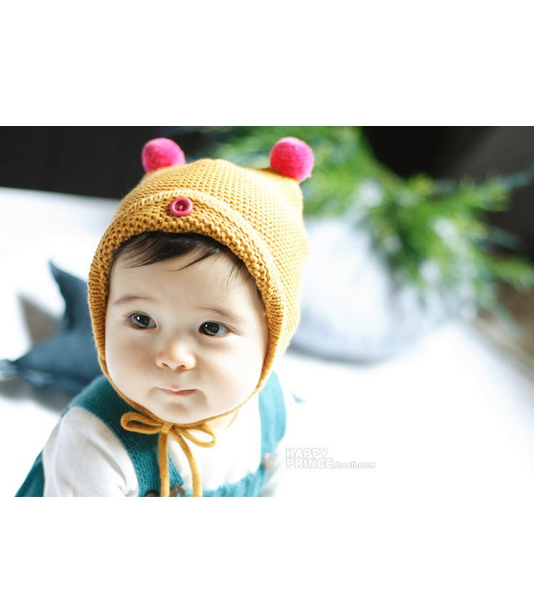 【冬季宝宝可爱毛线帽子】-母婴-帽子