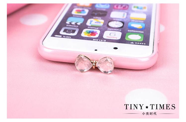 苹果iphone6水钻边框 6s带钻粉色金属壳