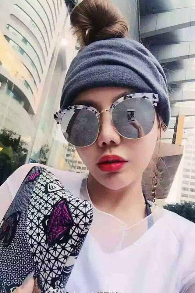 【韩国半框太阳镜墨镜大框潮镜明星同款眉框镀膜眼镜