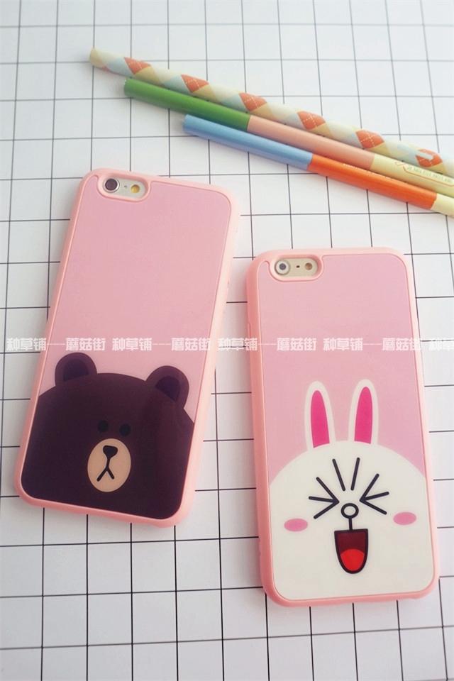 【韩国line布朗熊iphone手机壳】-配饰-手机配件