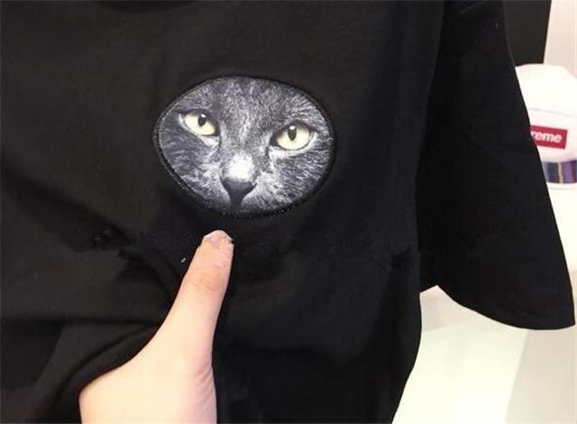 【搞怪卡通可爱猫咪头像短袖t恤】-衣服-t恤_上装__鞋