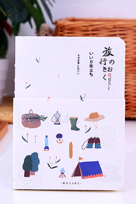 【素厘家【旅行记忆】清新手绘插画手帐本记事本日程